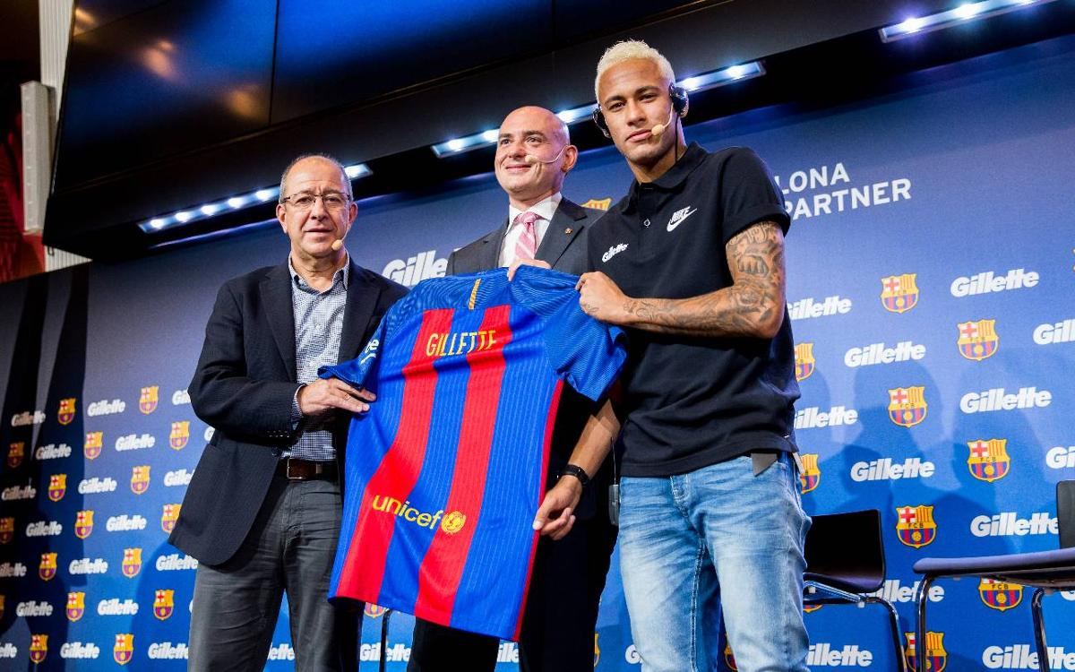 FC Barcelona and Gillette present new sponsorship deal