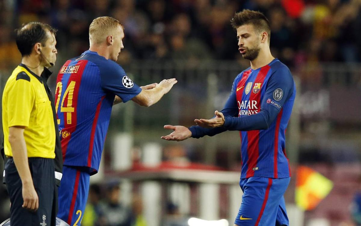 Piqué and Alba injured in Champions League win