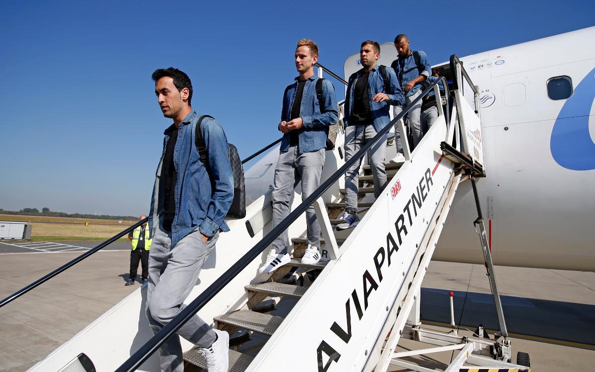 Així ha estat el viatge del Barça a Alemanya