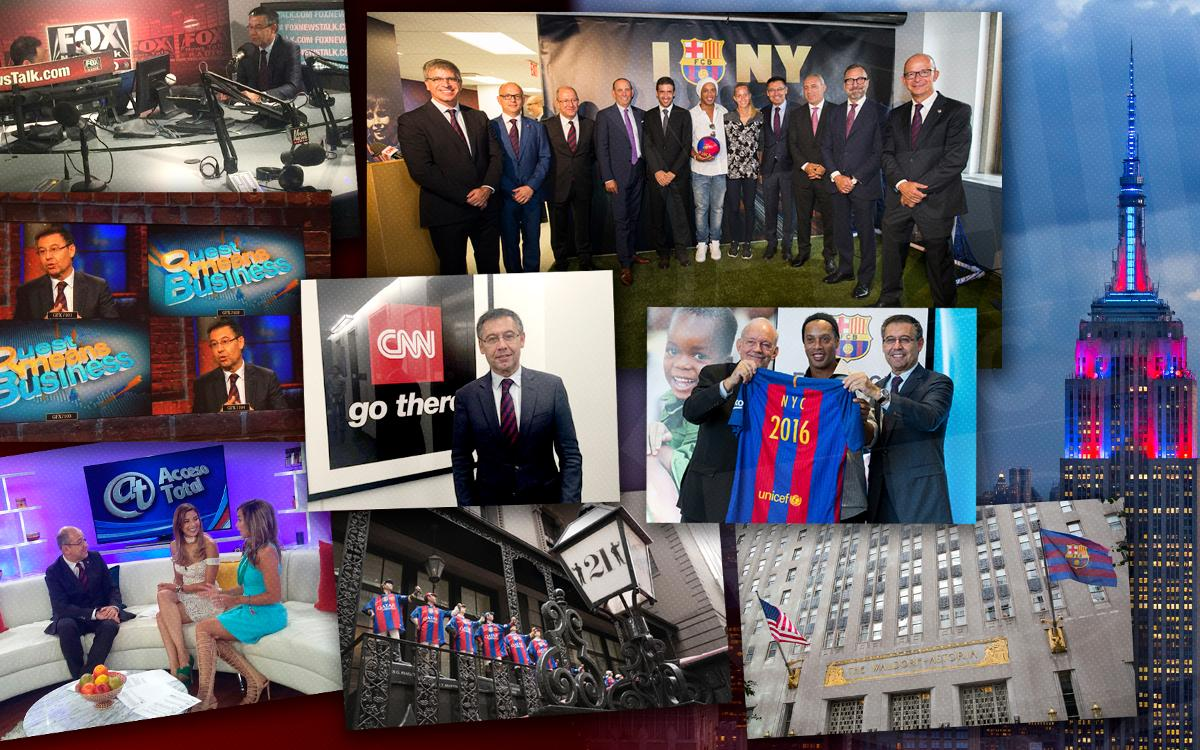 Huge media interest in FC Barcelona's arrival in New York