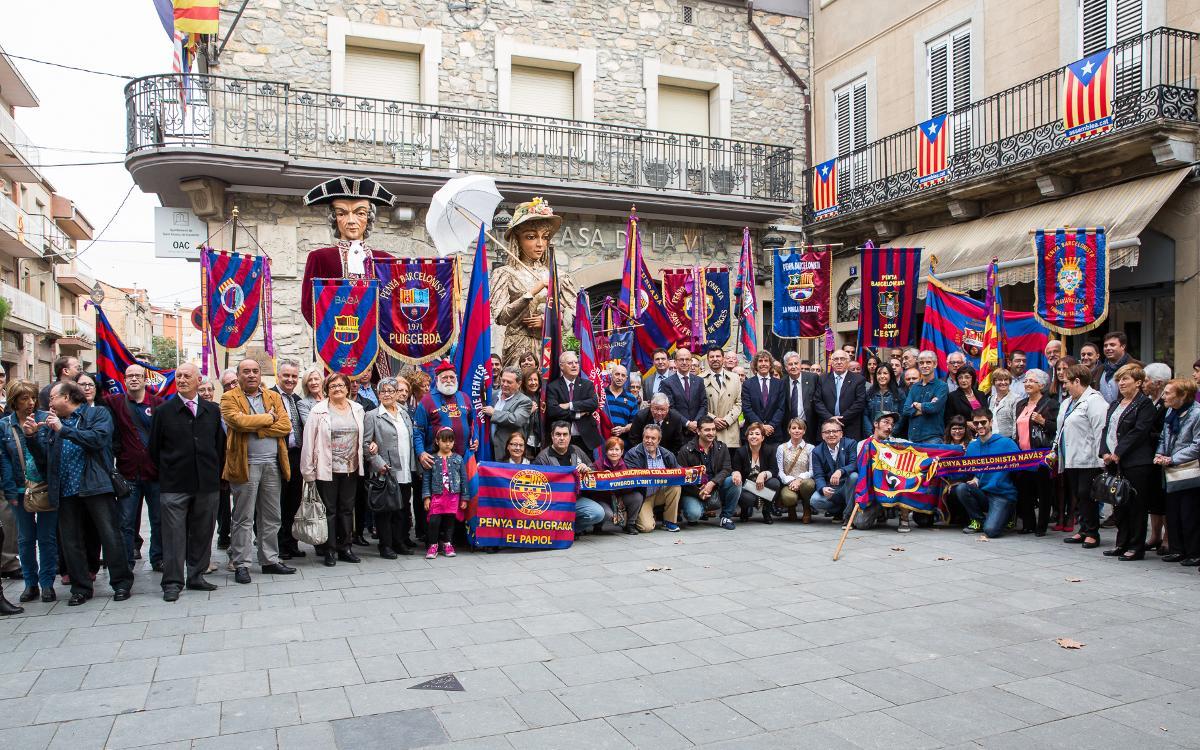 Sant Vicenç de Castellet se vuelca con el Barça y con su movimento peñístico