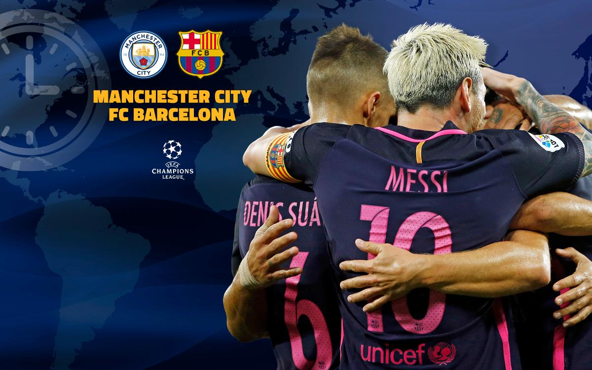 When and where to watch Manchester City v FC Barcelona