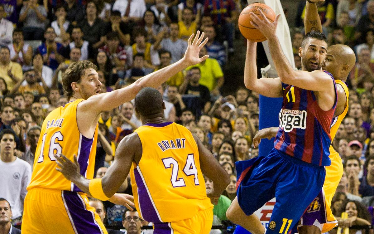 When FC Barcelona met the Los Angeles Lakers
