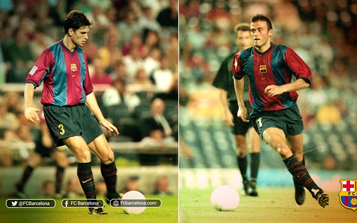 El año que coincidieron Luis Enrique y Pellegrino en el FC Barcelona