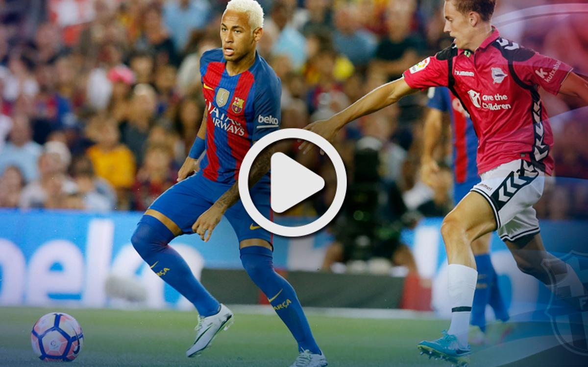 League video highlights: FC Barcelona v Alavés