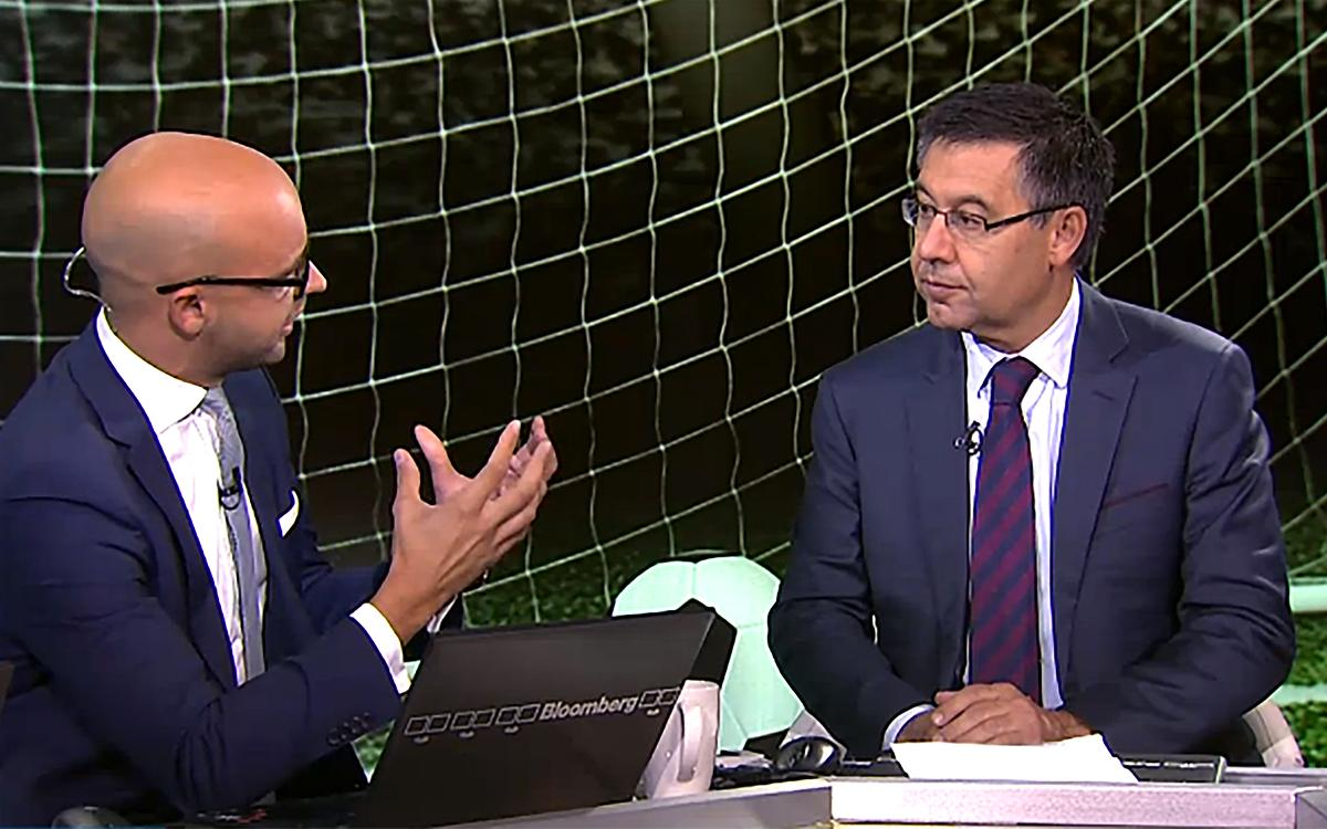 Bartomeu talks to U.S. media about Club's €1 billion revenue goal