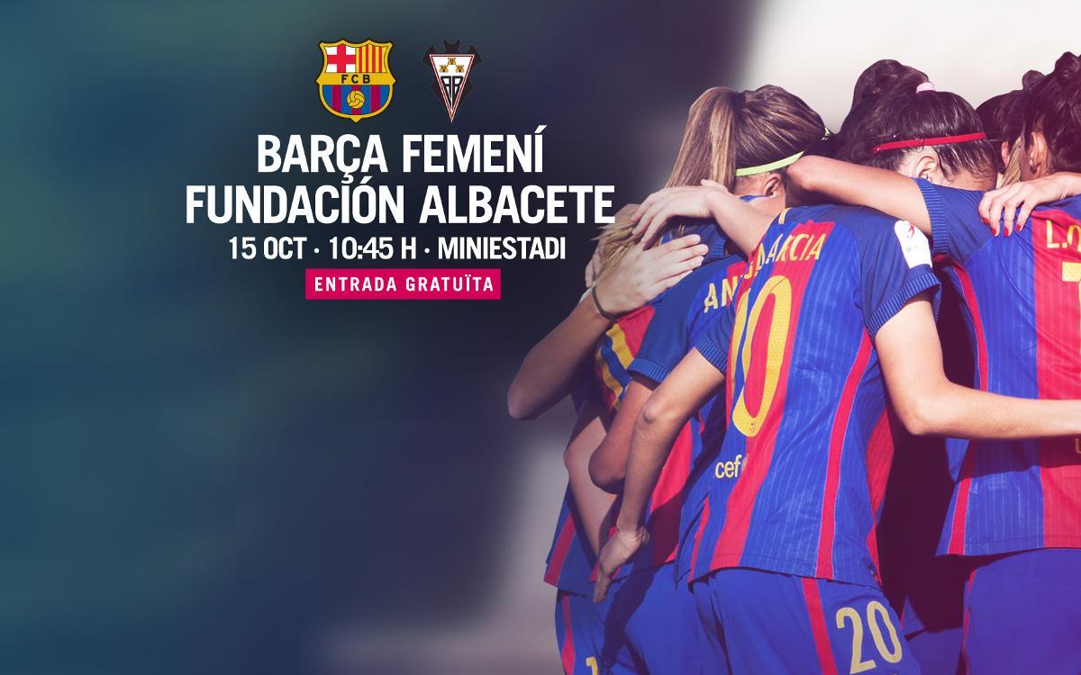 FC Barcelona Femení – Fundación Albacete (prèvia): Un esforç més al Mini
