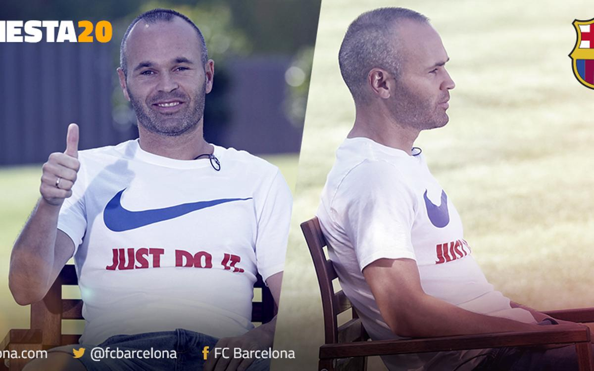 20 years in an FC Barcelona shirt for Andrés Iniesta