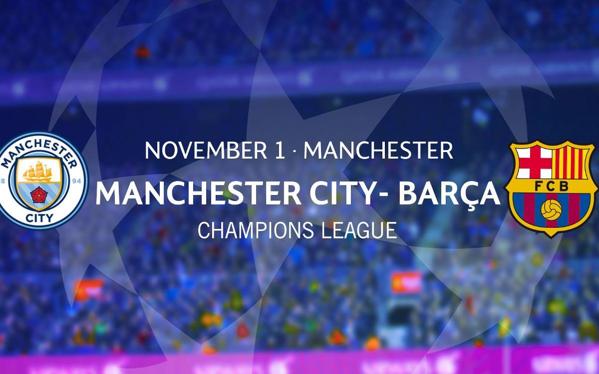 Tickets Manchester City – Barça Champions League match