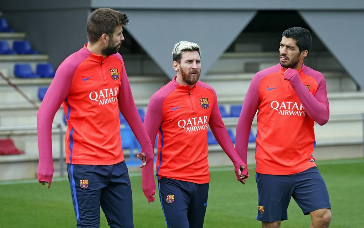 FC Barcelona continue preparations for Manchester City