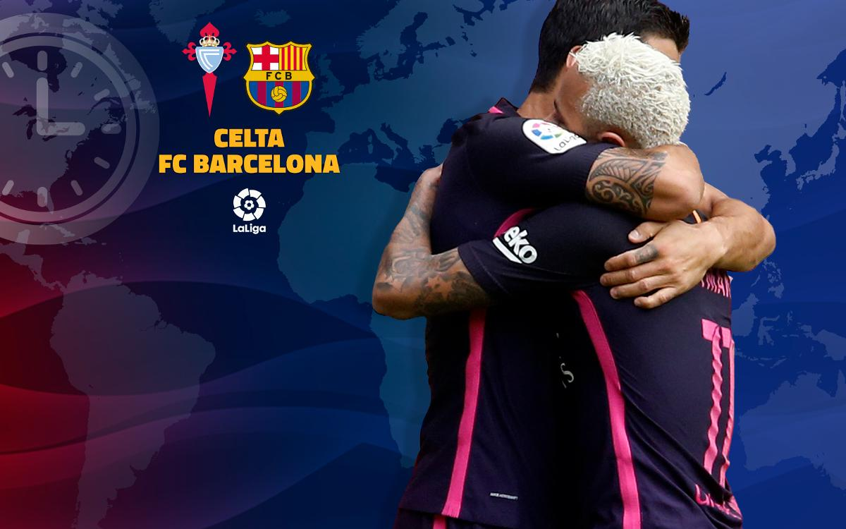 When and where to watch Celta v FC Barcelona
