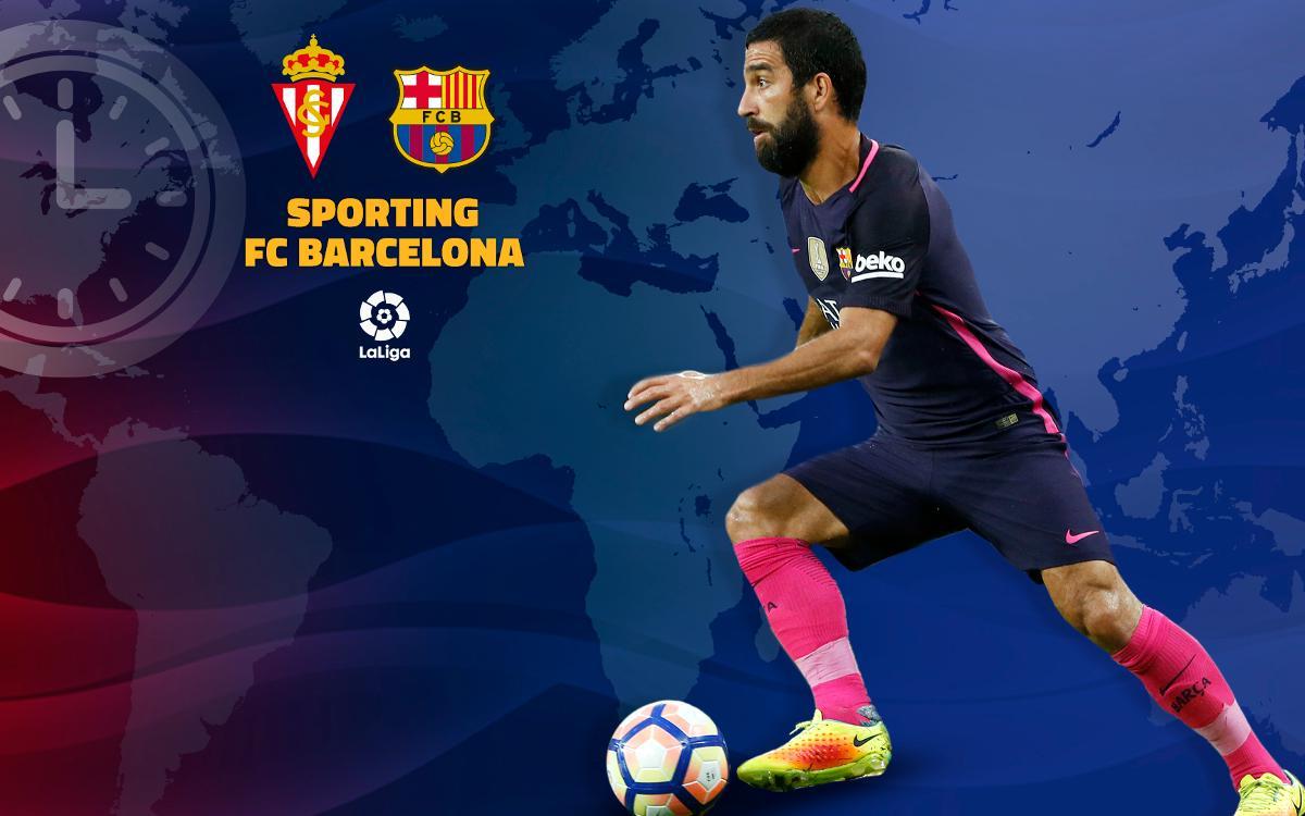 Cuándo y dónde se puede ver el Sporting de Gijón- FC Barcelona