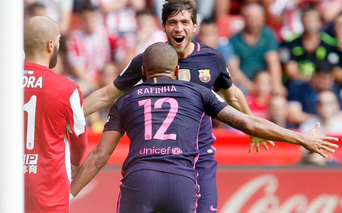 Sporting Gijón - FC Barcelona: Letales en El Molinón (0-5)