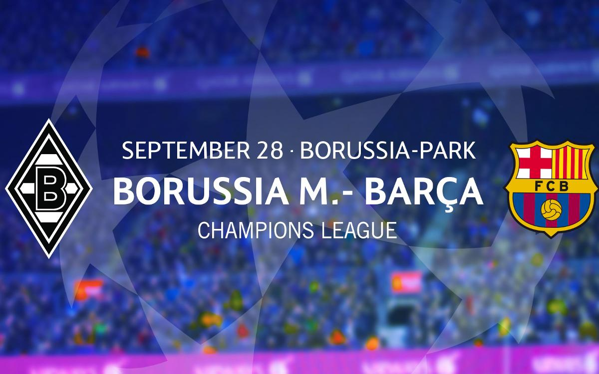 Tickets to see Barça at Borussia Mönchengladbach in the UEFA Champions League