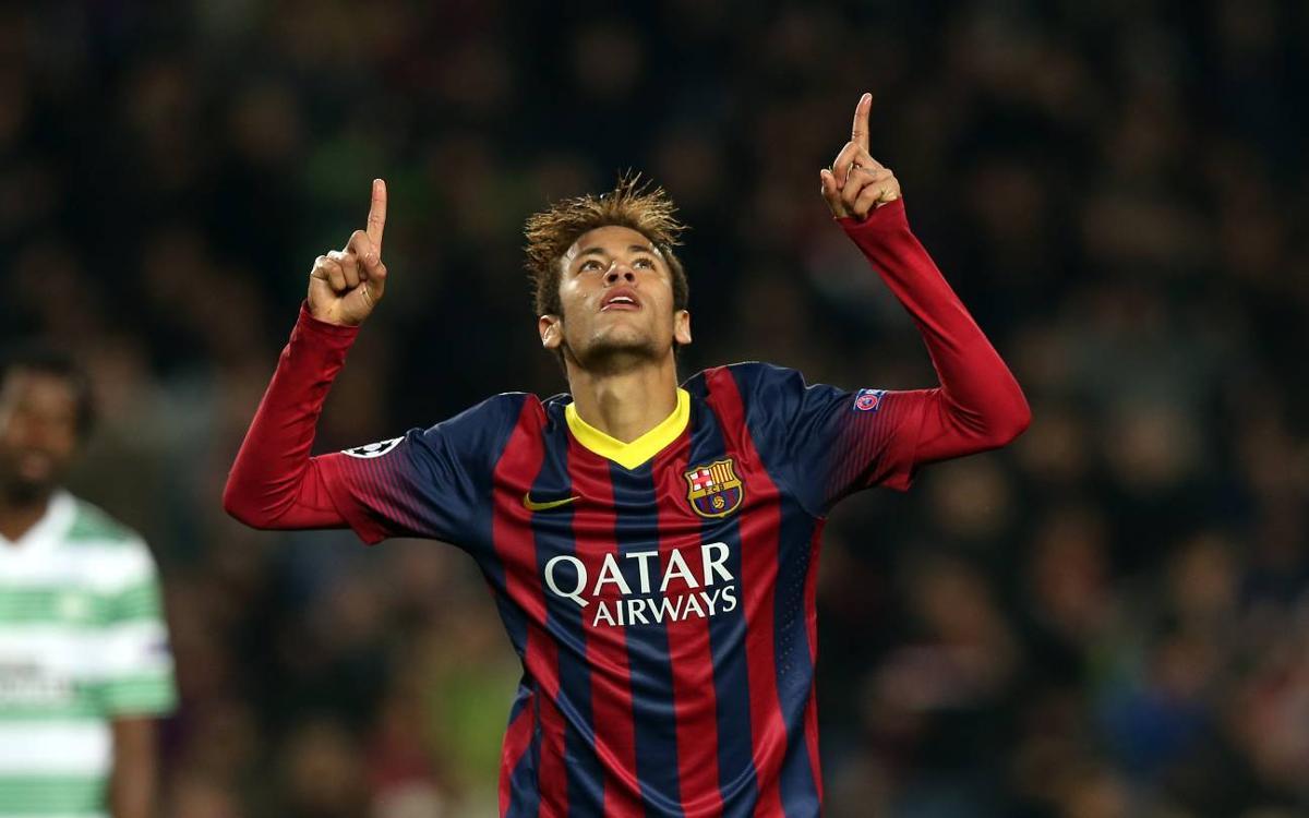 El día que Neymar Jr hizo un hat-trick al Celtic