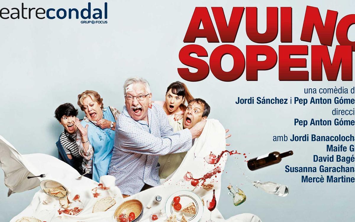 """'Avui no sopem"""", en el Teatre Condal con promoción especial para los socios"""