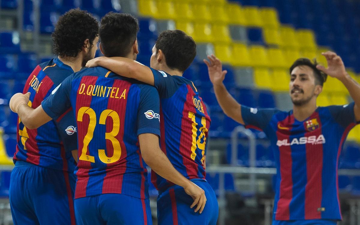 Premio escaso para un Barça Lassa que va a más (3-2)