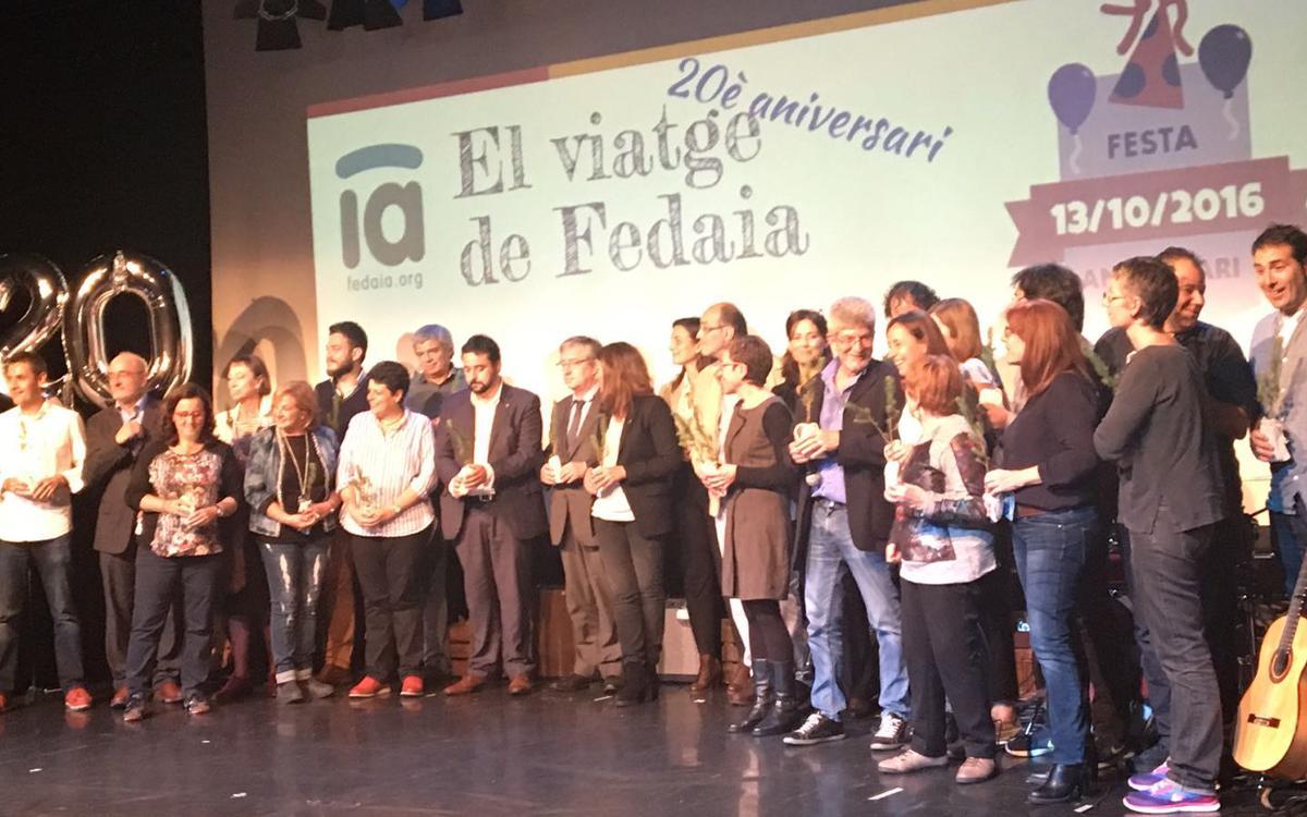 El Barça, present a la festa de celebració del 20è aniversari de FEDAIA