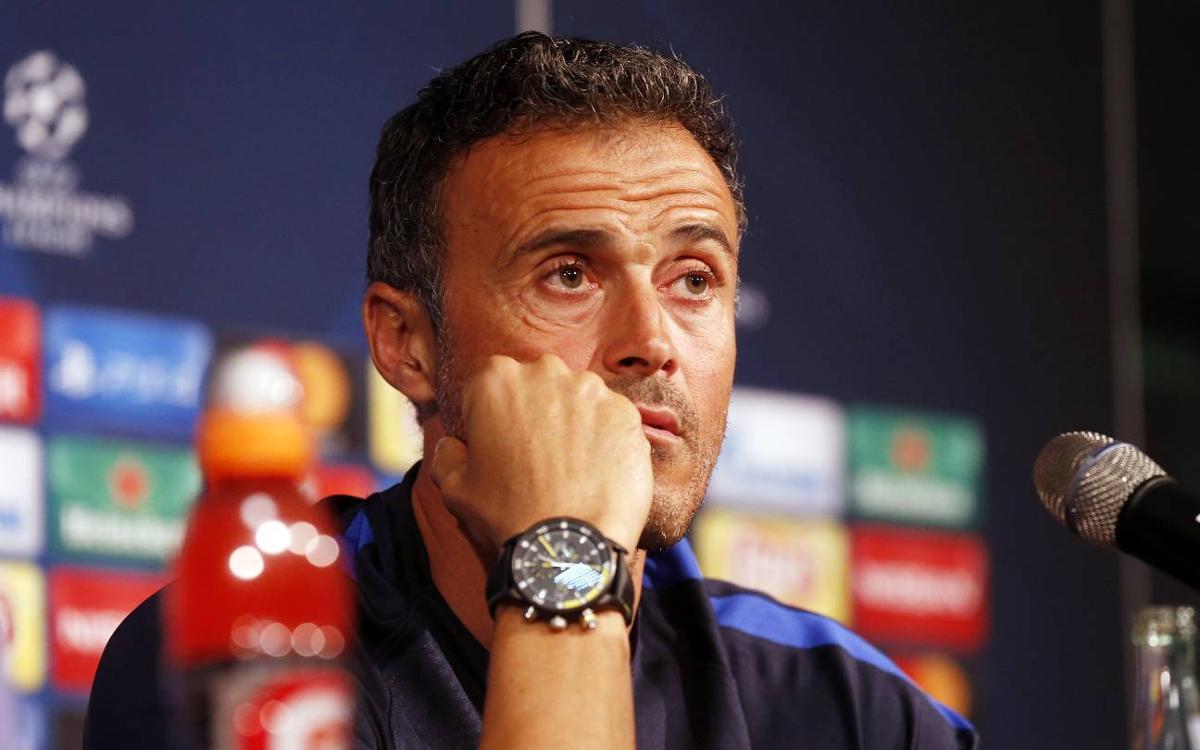 DIRECTE - Roda de premsa de Luis Enrique prèvia al partit contra el Manchester City