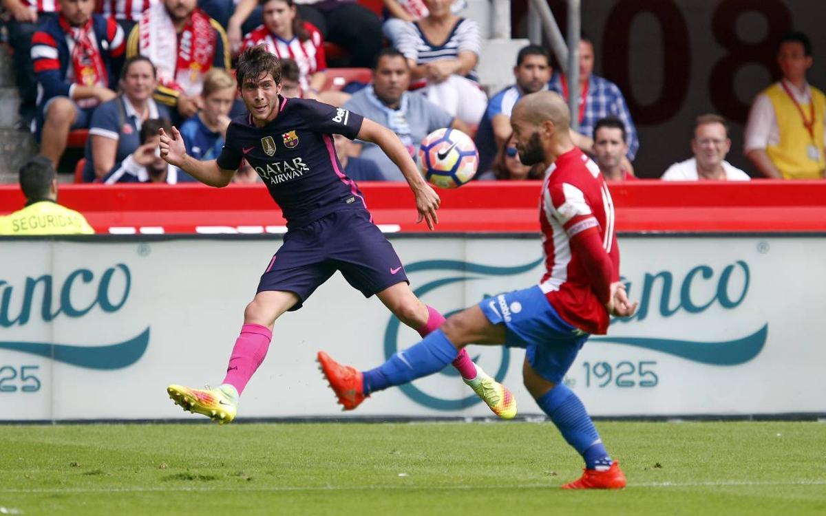 Sergi Roberto settling into FC Barcelona full back role