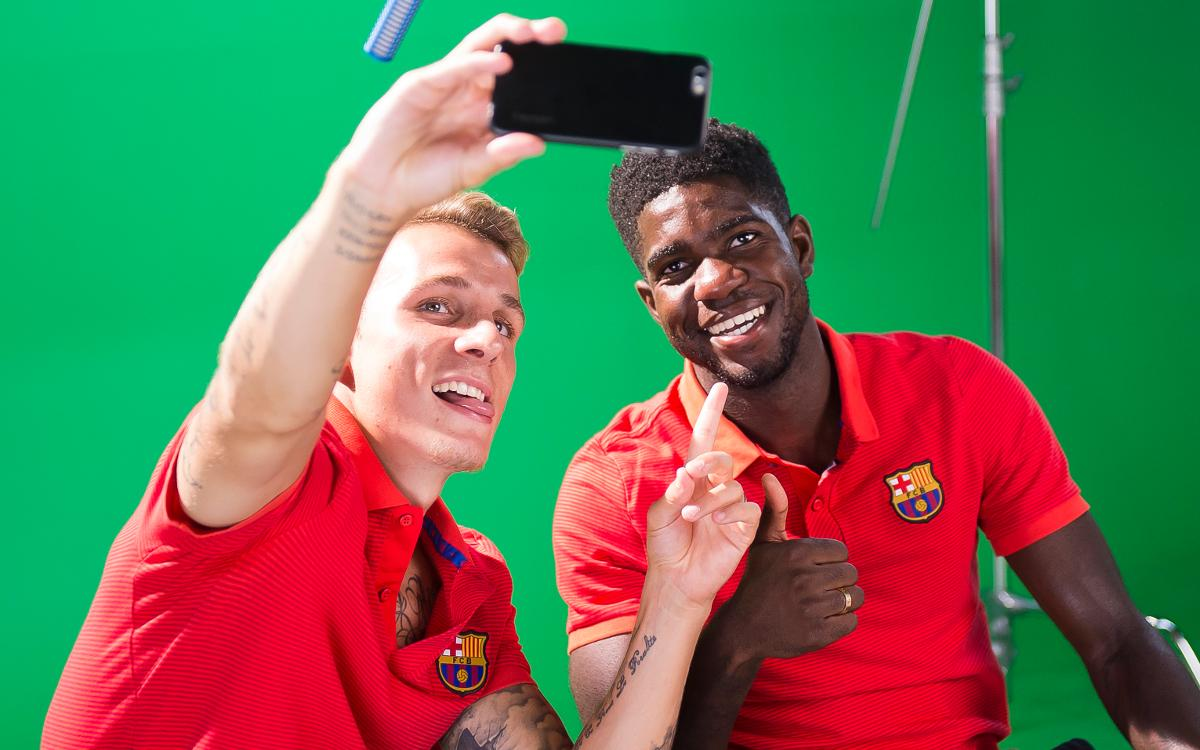 Lucas Digne and Samuel Umtiti take Barcelona quiz