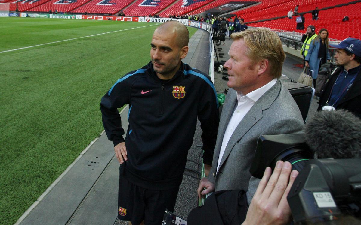 Guardiola y Koeman se citan en Manchester antes de la Champions