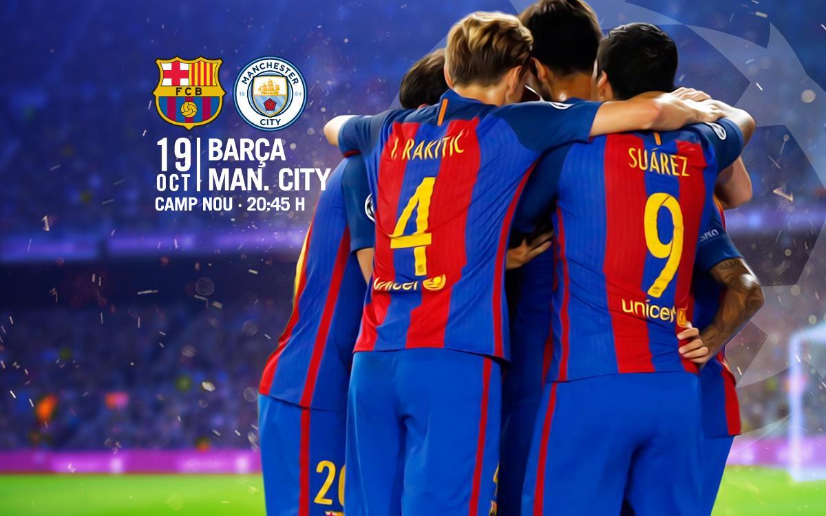 Venda d'entrades per al partit contra el Manchester City al Camp Nou