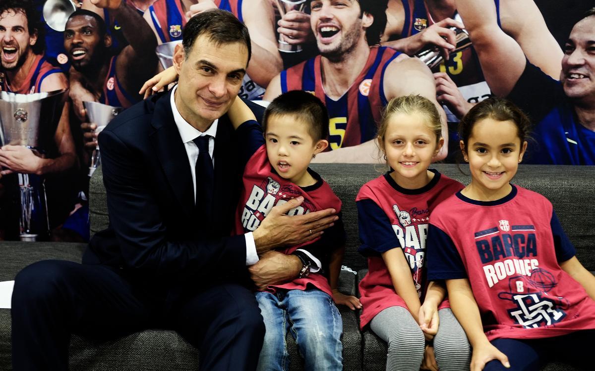 Els tres joves guanyadors del concurs 'L'estiu és Rookie' viuen una experiència única al Palau Blaugrana