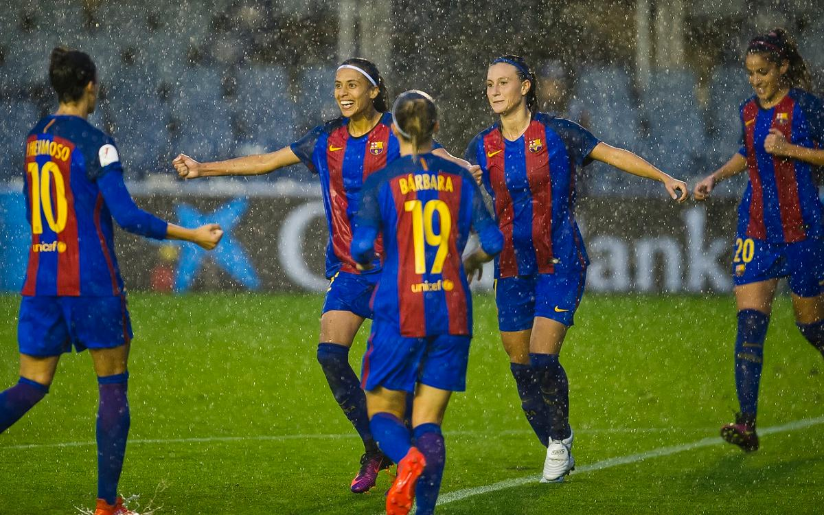 FC Barcelona Women v FC Minsk: Through to round of 16 in downpour (2-1)