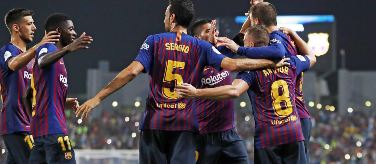 スーパー杯決勝、セビージャ FC - FC バルセロナ(1-2)