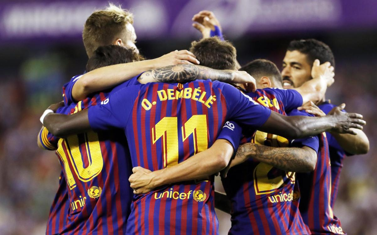 バジャドリード - FC バルセロナ戦ハイライト