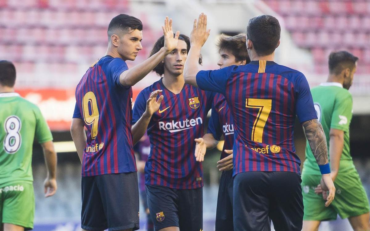 Barça B - UE Cornellà: Cómoda victoria azulgrana (3-1)
