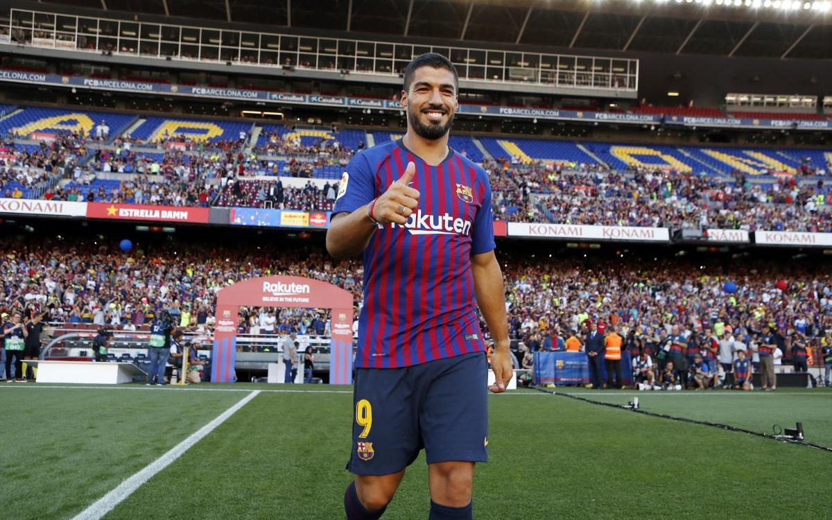 Luis Suárez, a un partit dels 200 amb el Barça