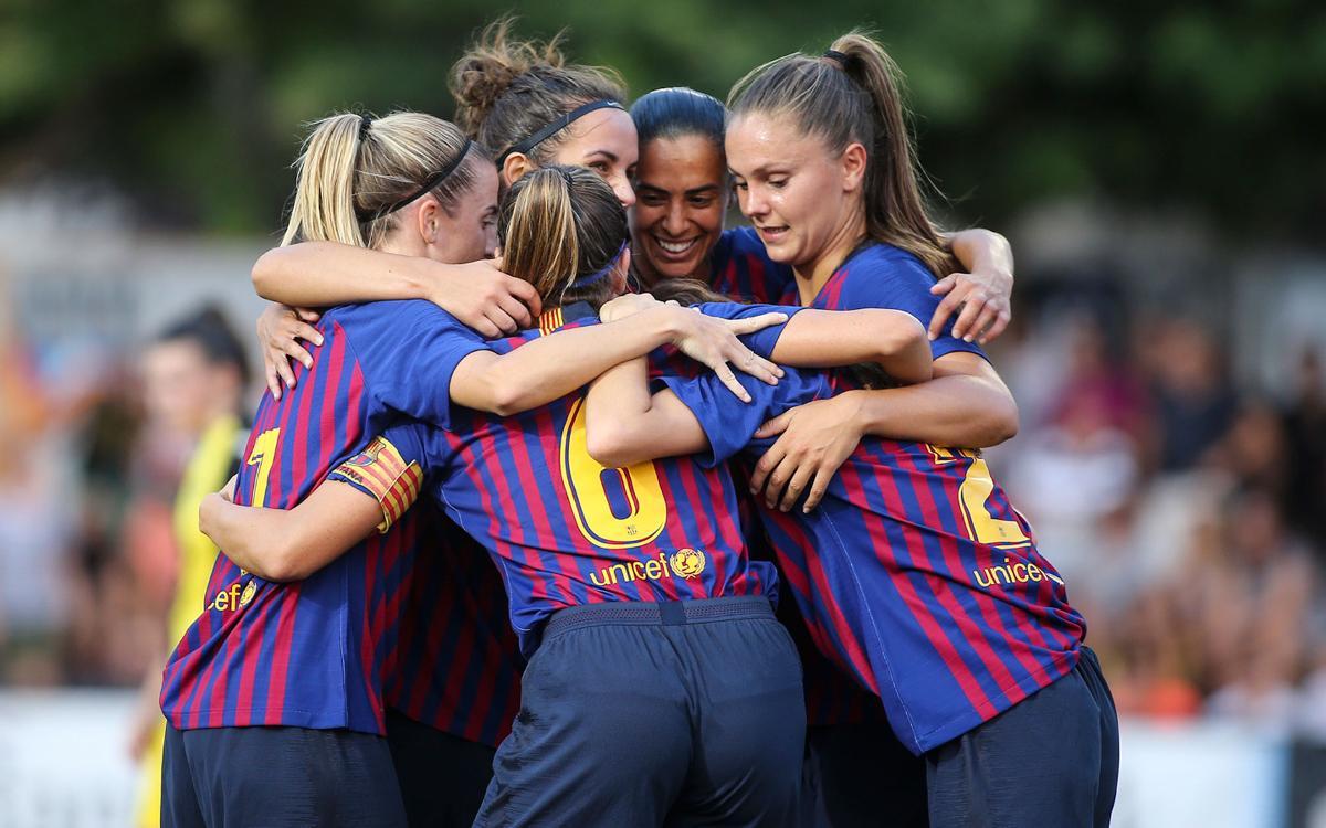 FC Barcelona Femenino - CF Pardinyes: ¡Goleada y en la final de la Copa Catalunya! (9-0)