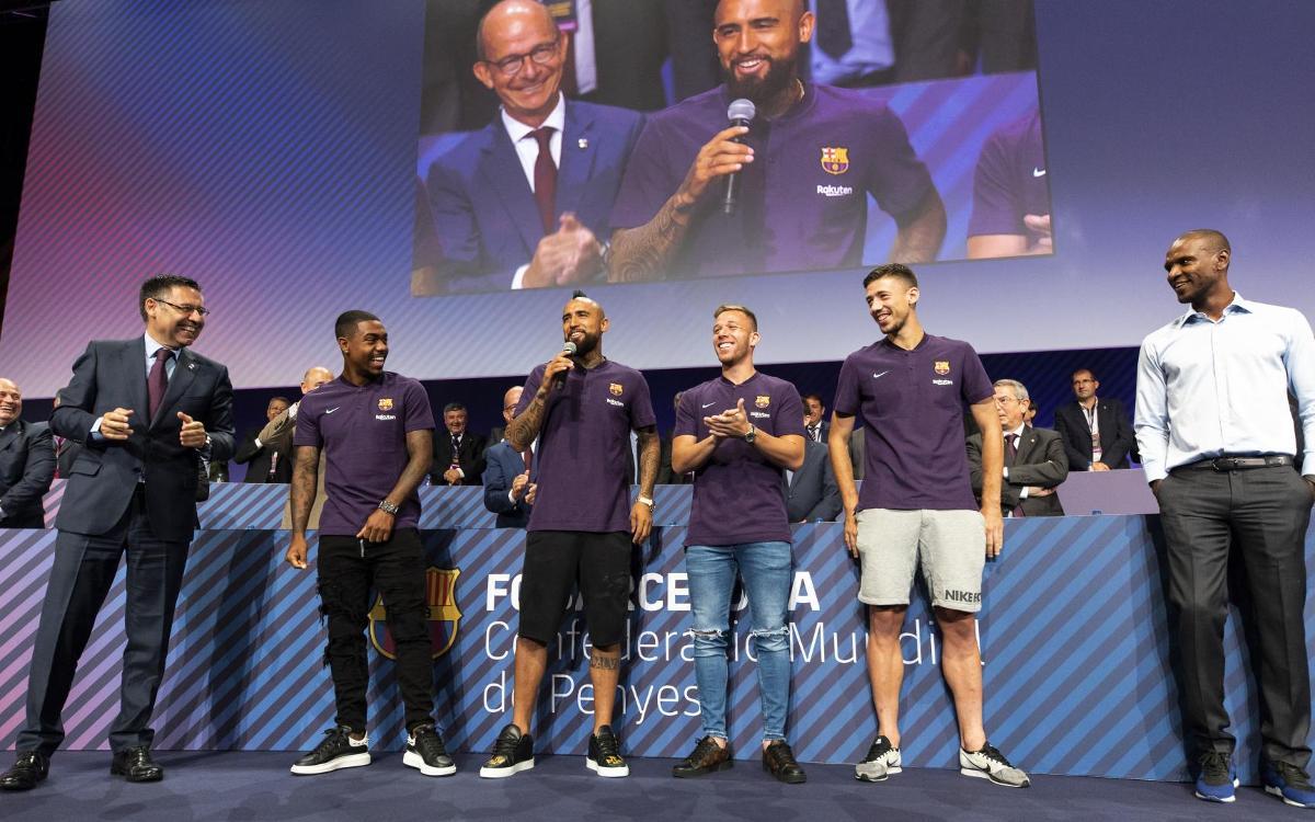 Las cuatro incorporaciones del primer equipo, presentes en el 39º Congreso Mundial de Peñas