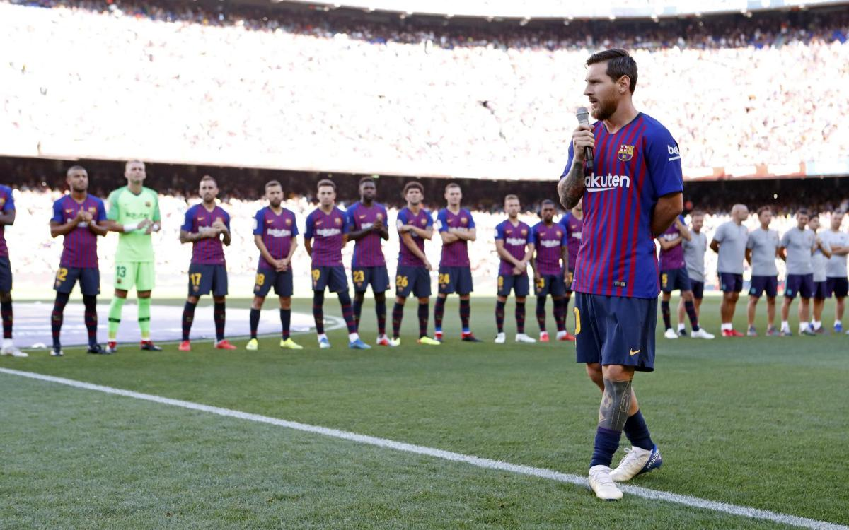 Leo Messi proud to be Barça captain