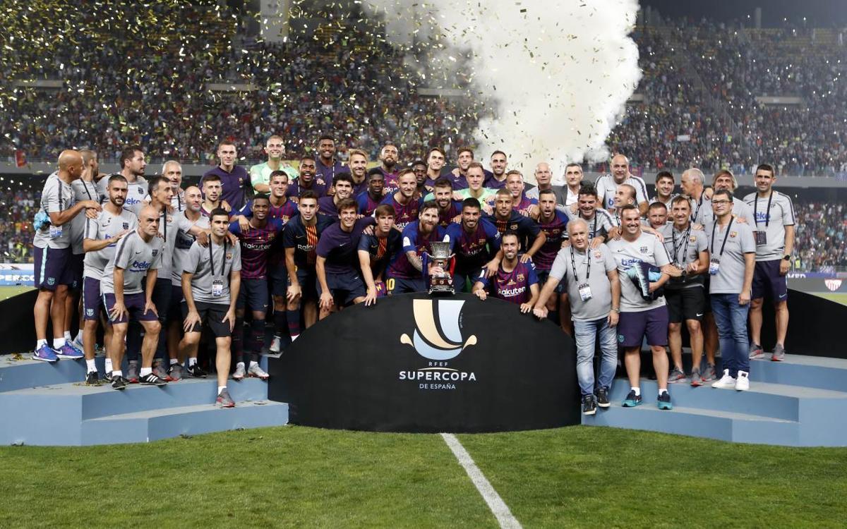 El FC Barcelona guanya la seva 13a Supercopa d'Espanya