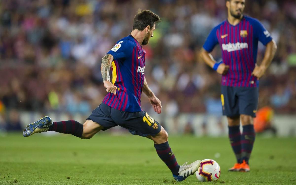 La magia de Leo Messi en el lanzamiento de faltas directas