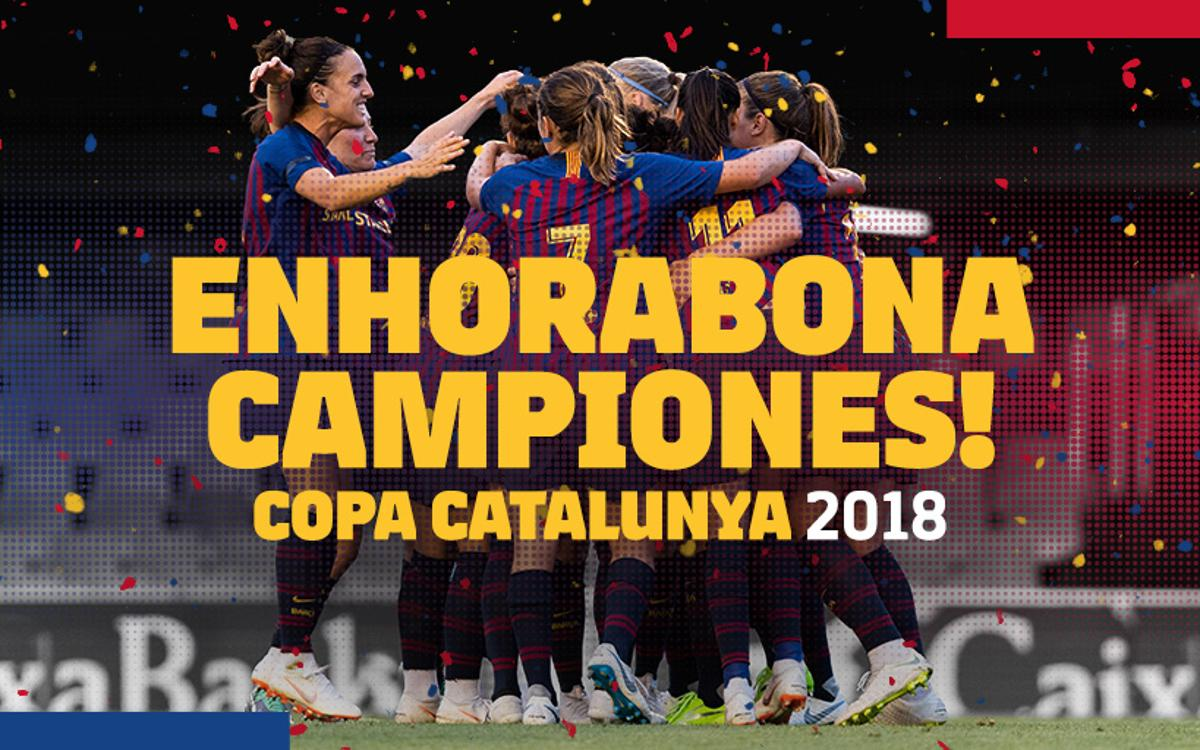 ¡Novena Copa Catalunya en diez años!