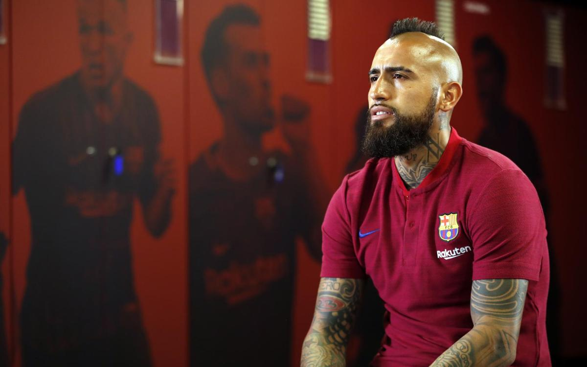 Vidal: 'I'm happy to share the dressing room with great players'