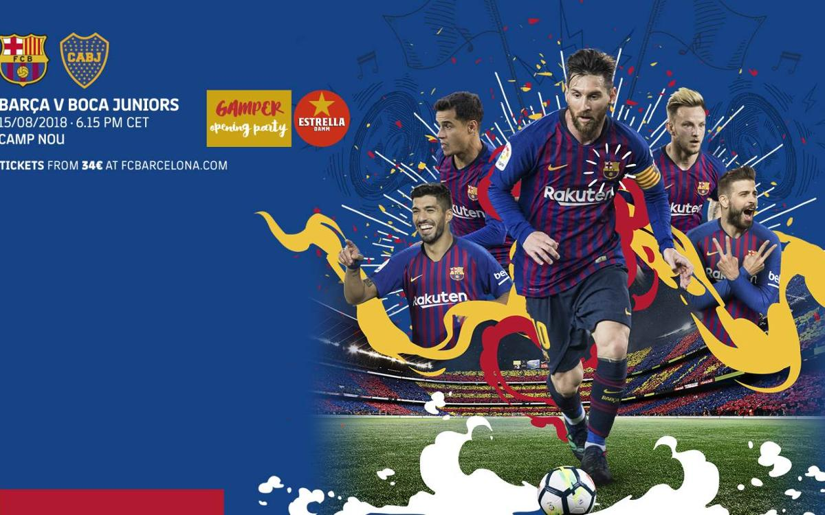 When and where to watch FC Barcelona vs. Boca Juniors