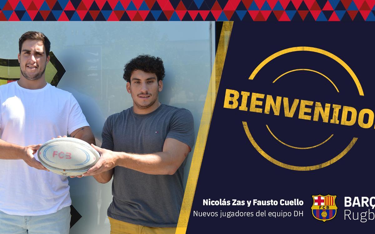 Nicolás Zas i Fausto Cuello las dos primeras incorporacionses