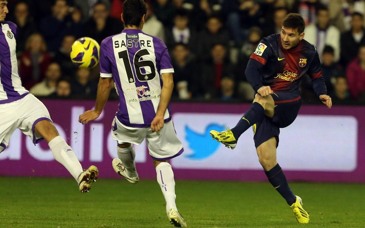 Los goles de Messi en Valladolid