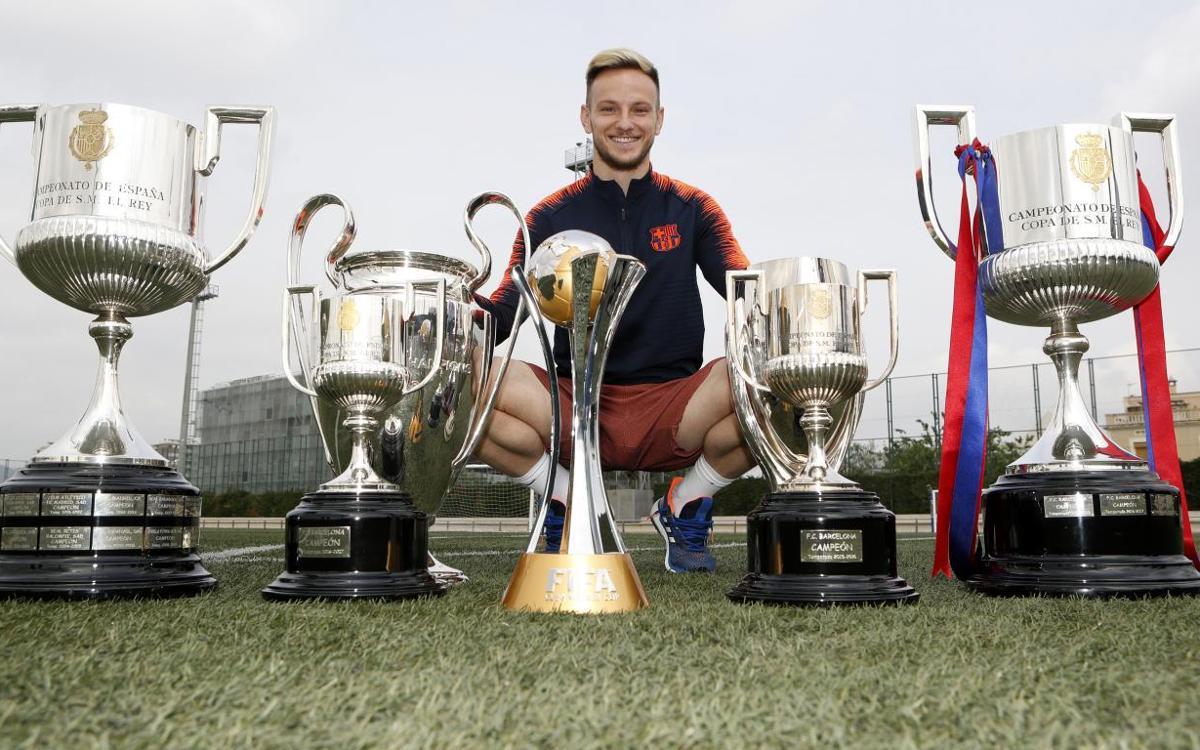 Ivan Rakitic: vuit victòries en 8 finals amb el Barça