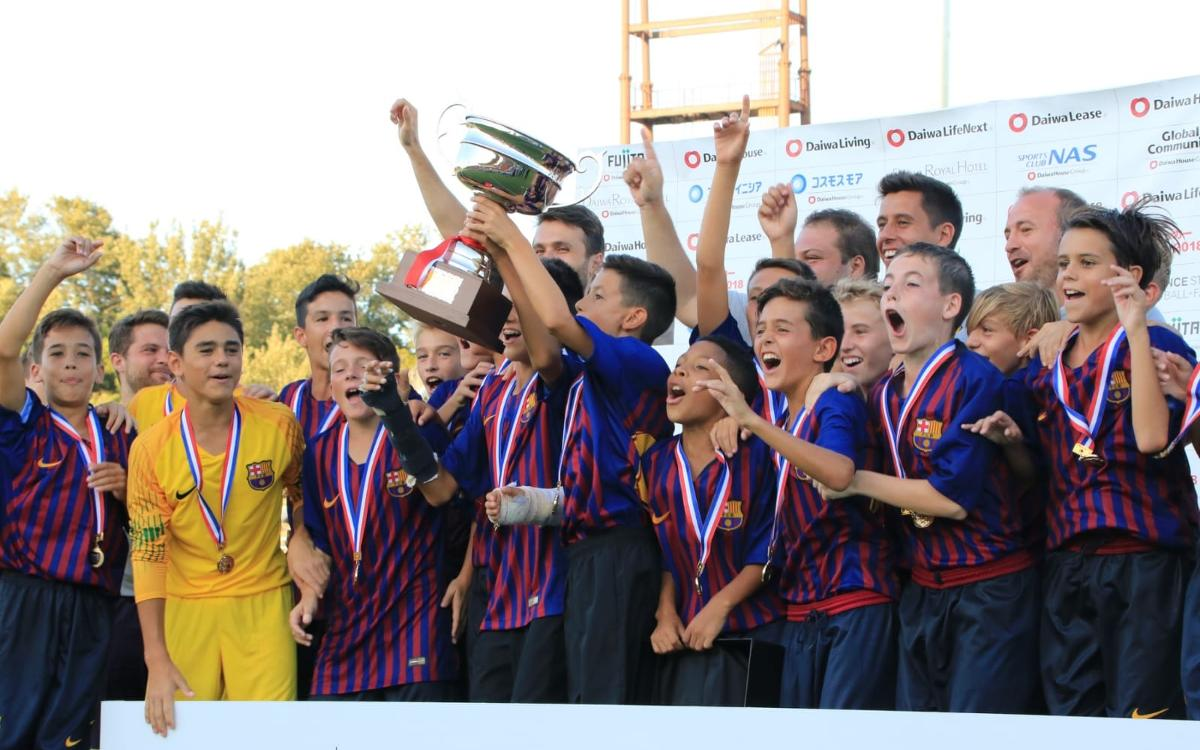 U14B team win Junior Soccer World Challenge in Japan