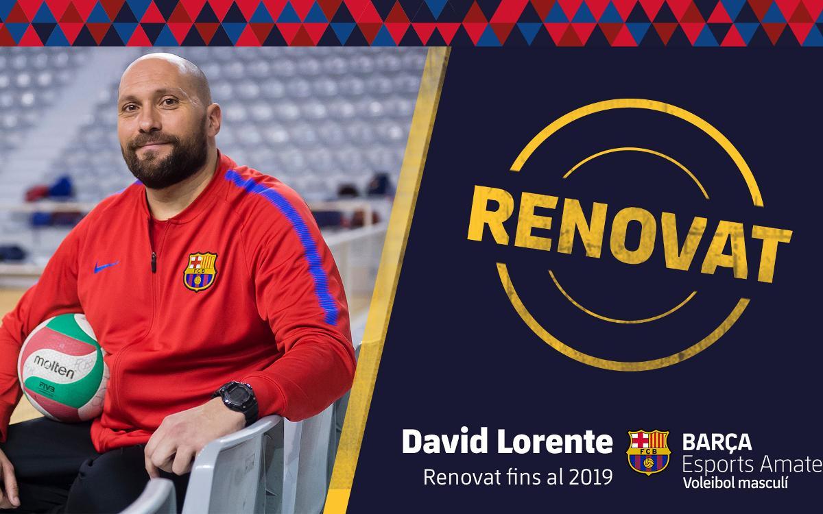 David Lorente seguirà comandant el Barça de voleibol