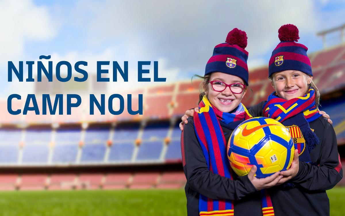 Niños en el Camp Nou