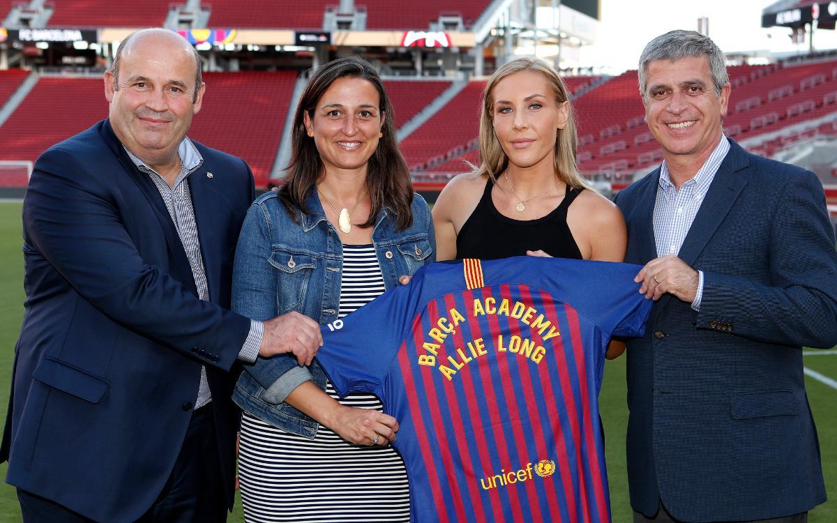 Allie Long, assessora tècnica de la Barça Academy PRO NY