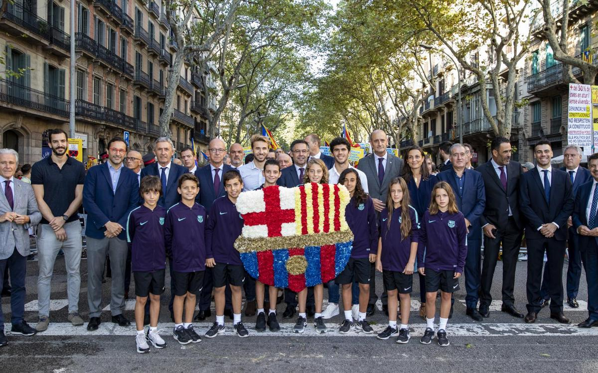 FC Barcelona celebrates National Day of Catalonia 2018