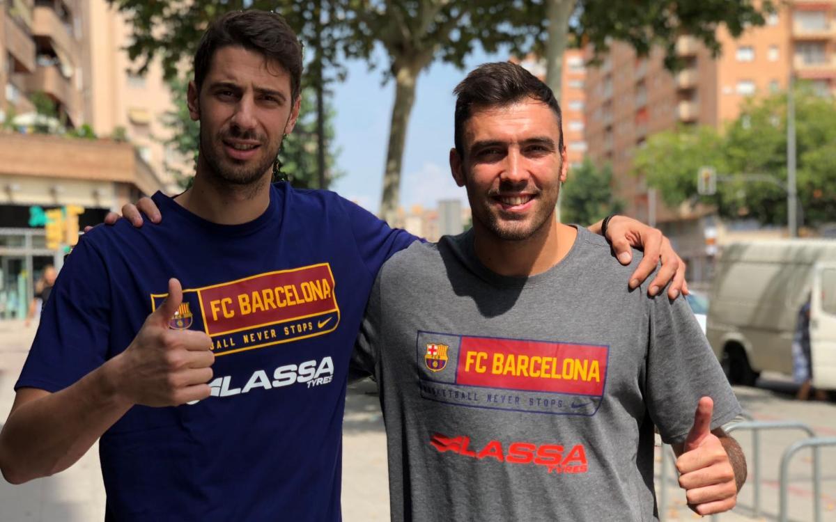 Ante Tomic y Pierre Oriola, nuevos capitanes del Barça Lassa de baloncesto